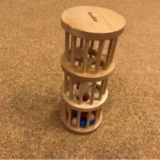 ファミリア(familiar)のファミリア タワー おもちゃ ベビー 赤ちゃん カタカタ 木(その他)