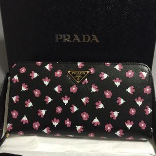 プラダ(PRADA)の定価89640円 新品 プラダ 財布 サフィアーノ 花柄(財布)