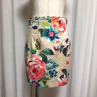マーキュリーデュオ(MERCURYDUO)のフラワータイトスカート(ミニスカート)