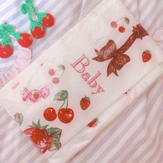 ベイビーザスターズシャインブライト(BABY,THE STARS SHINE BRIGHT)のBABY Berry柄タイツ ホワイト ((新品未使用))(タイツ/ストッキング)