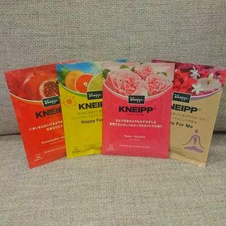 クナイプ(Kneipp)の【新品未使用品】KNEIPPバスソルト 4種類セット(その他)