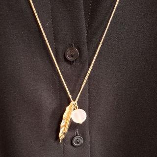 シマムラ(しまむら)の【送料込】ゴールドリーフ ロングネックレス(ネックレス)