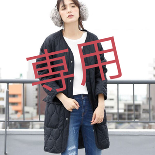 コーエン(coen)の【yuuui様専用】TUFLEX×Thermoreキルティングコート(ダウンコート)