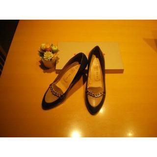 サヴァサヴァ(cavacava)の【即落OK!】『サヴァサヴァ』トラッドパンプス 23.5cm 新品・未使用(ローファー/革靴)