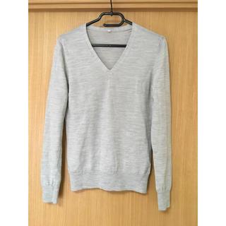 ムジルシリョウヒン(MUJI (無印良品))の無印良品 ウールシルク 洗えるVネックセーター(ニット/セーター)