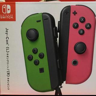 ニンテンドースイッチ(Nintendo Switch)のJoy-Con(L) ネオングリーン /(R) ネオンピンク(その他)
