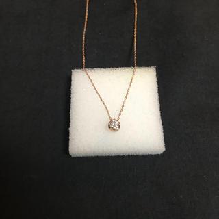 ヨンドシー(4℃)の4℃ ダイヤ ネックレス k18(ネックレス)