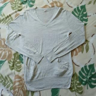ムジルシリョウヒン(MUJI (無印良品))の無印良品 コットン シルク Vネック ニット ポケット スリット(ニット/セーター)