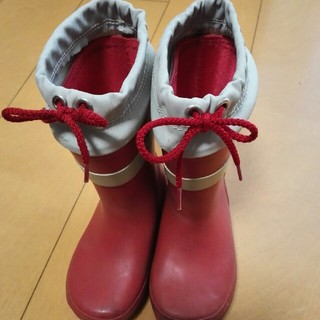 ムジルシリョウヒン(MUJI (無印良品))の無印長靴赤(長靴/レインシューズ)