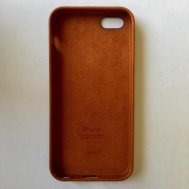 1734cfcb9f Apple - Apple純正 iPhoneSE/5/5s対応 純正レザーケース サドルブラウン ...