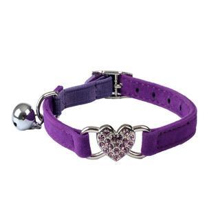 猫首輪 犬首輪 猫用首輪 紫色♪ 新品未使用 送料無料(猫)