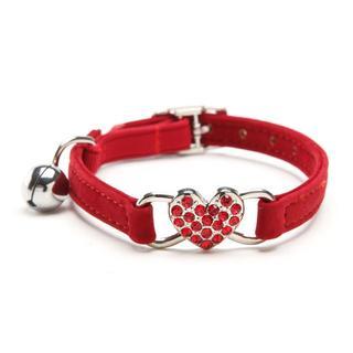 猫首輪♪犬首輪 猫用首輪♪犬用首輪 赤色♪ 新品未使用品♪ 送料無料(猫)