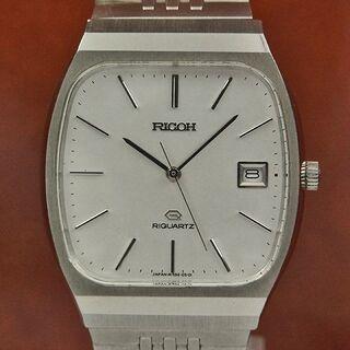 リコー(RICOH)のリコー リクオーツ シルバーダイヤル 初期クオーツ(腕時計(デジタル))
