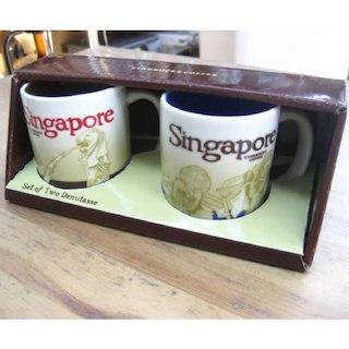 スターバックス シンガポール デミタスカップ ペア 新品(グラス/カップ)