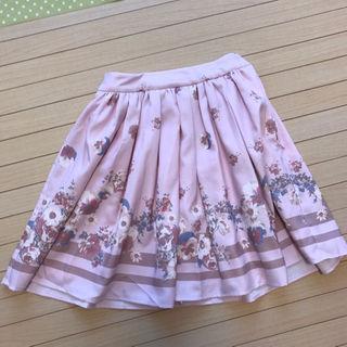 リズリサ(LIZ LISA)の【送料無料】リズリサ スカート★ピンク花柄パンジー(ミニスカート)