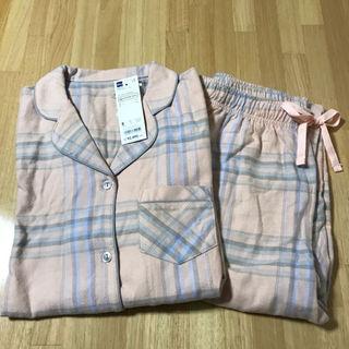 ジーユー(GU)のGUジーユー チェック柄パジャマ ピンク Sサイズ(パジャマ)