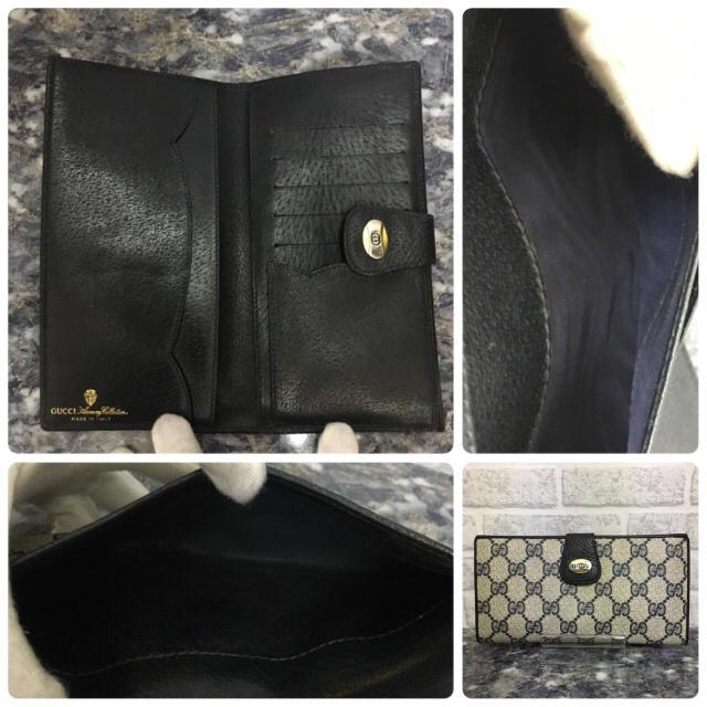 429483050bd9 Gucci(グッチ)のGUCCI オールド グッチ GGプラス ネイビーブルー 二つ折り 長財布