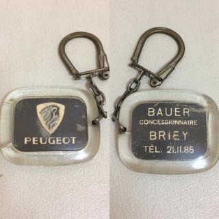 プジョー(Peugeot)のフランスヴィンテージ 1960年代 PEUGEOT プジョー 企業キーホルダー(キーホルダー)