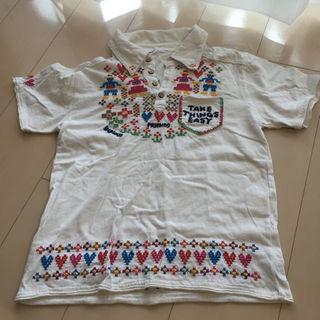 ラフ(rough)の最終値下げだよ☆rough 刺繍襟付きTシャツ M(その他)