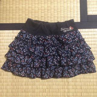 サンカンシオン(3can4on)の3can4on 花柄 黒 スカート フリルスカート 女の子 100(スカート)