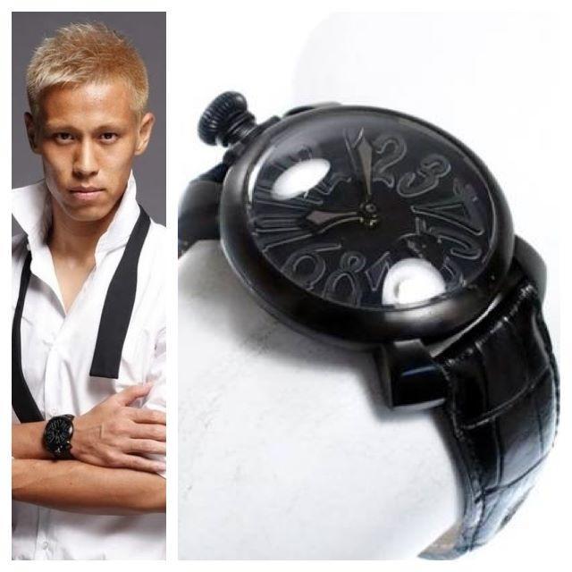 promo code f7adb f5de2 本物 ガガミラノ GAGA MILANOマヌアーレ 48mm 黒×黒 腕時計 | フリマアプリ ラクマ