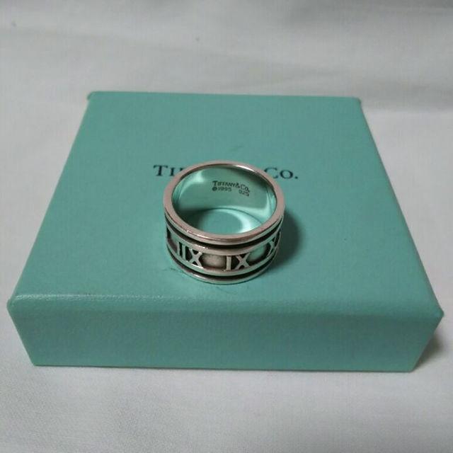 huge discount b5517 4d468 TIFFANY ティファニー リング アトラス ワイド 指輪 メンズ | フリマアプリ ラクマ
