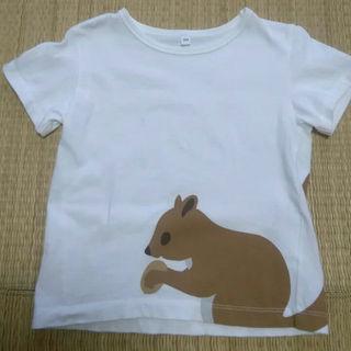 ムジルシリョウヒン(MUJI (無印良品))の100㎝⭐無印 りすT シャツ(Tシャツ/カットソー)
