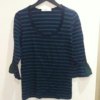 サカイラック(sacai luck)のsacailuck ボーダーTシャツ(Tシャツ(長袖/七分))