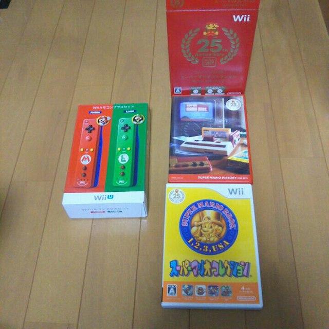 Wii U(ウィーユー)のwiiU リモコンプラス スーパーマリオコレクション ヌンチャク エンタメ/ホビーのテレビゲーム(家庭用ゲーム本体)の商品写真