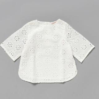 プティマイン(petit main)の新品タグ付き プティマイン レース プルオーバー(Tシャツ/カットソー)