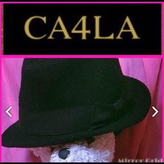 カシラ(CA4LA)のCA4LA カシラ ♥ 黒 ウールハット 中折れ帽 帽子 ♥ 男女兼用 ジョニデ(ハット)