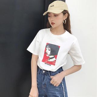 ゴゴシング(GOGOSING)のアメコミ調 MATILDA 半袖Tシャツ レオン 海外韓国ファッション 新品(Tシャツ(半袖/袖なし))