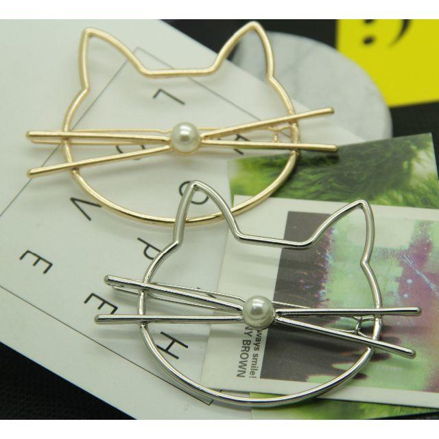 猫ヘアピン ゴールド♪シルバー♪ お得な2本セット♪ 新品未使用品 送料無料 その他のペット用品(猫)の商品写真