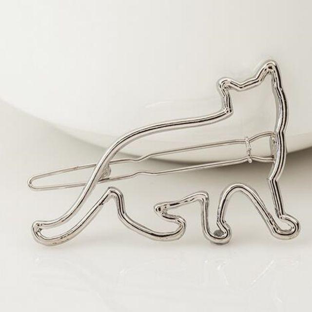 猫ヘアピン♪♪ ゴールド・シルバー♪ お得な2本セット♪ 新品未使用品 送料無料 その他のペット用品(猫)の商品写真