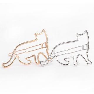 猫ヘアピン♪ ゴールド・シルバー♪ お得な2本セット♪ 新品未使用品♪ 送料無料(ヘアピン)