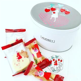 オードリー 缶 小 バレンタイン 限定(菓子/デザート)