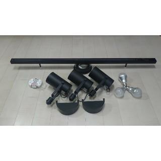 ムジルシリョウヒン(MUJI (無印良品))の無印良品 MUJI システムライト本体&LEDスポットライト/ブラック ※セット(天井照明)