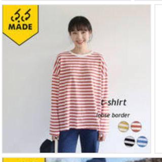 ロクロクガールズ(66girls)の66girls ボーダー Tシャツ ピンク(Tシャツ(長袖/七分))