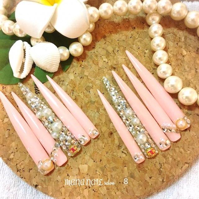 (8)ピンクスカルプネイル⭐︎即発送可能⭐︎ コスメ/美容のネイル(つけ爪/ネイルチップ)の商品写真
