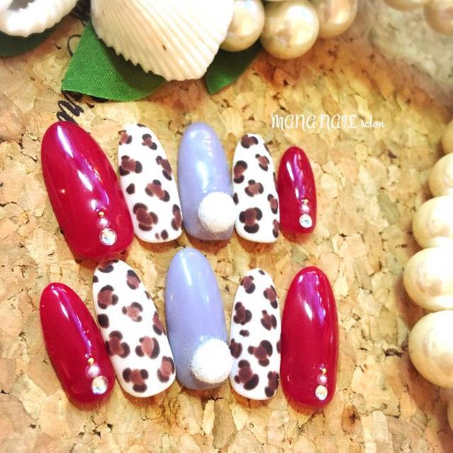 (10)ローズピンクとマットレオパード⭐︎即発送可能⭐︎ コスメ/美容のネイル(つけ爪/ネイルチップ)の商品写真