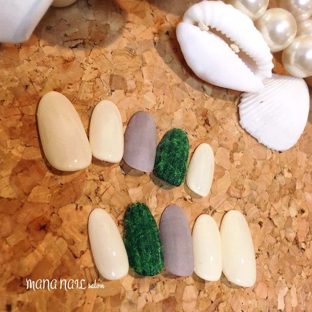 (12)コーデュロイとマットネイル⭐︎即発送可能⭐︎ コスメ/美容のネイル(つけ爪/ネイルチップ)の商品写真