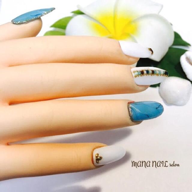 (1)再販【Mサイズ】製作後発送 コスメ/美容のネイル(つけ爪/ネイルチップ)の商品写真