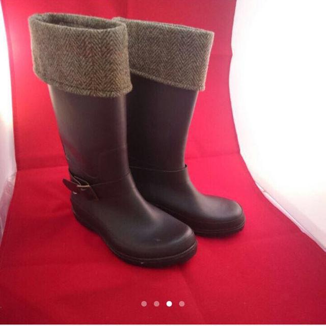 しまむら(シマムラ)の新品未使用  しまむら  ハリスツイード  レインブーツ  M レディースの靴/シューズ(レインブーツ/長靴)の商品写真