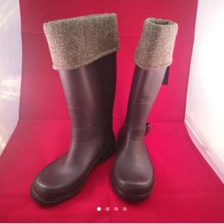 シマムラ(しまむら)の新品未使用  しまむら  ハリスツイード  レインブーツ  M(レインブーツ/長靴)