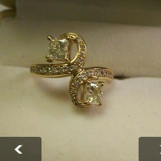 K18 VVS-2 1.402ct ダイヤモンド リング 鑑定書付き(リング(指輪))