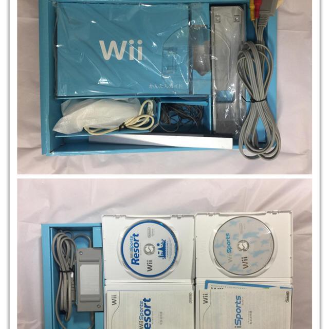 wii本体 ソフト2本 (wiiモーション・リモコン)各2個セット エンタメ/ホビーのテレビゲーム(家庭用ゲーム本体)の商品写真