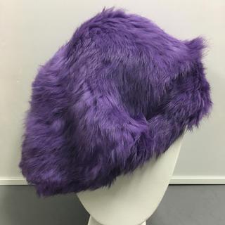 ラビットファー ベレー帽(ハンチング/ベレー帽)