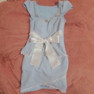 デイジーストア(dazzy store)のペプラムドレス♡胸元ビジュー(ナイトドレス)