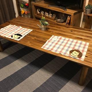 【国産天然杉】横幅150cm&選べる奥行きセンターテーブル(ローテーブル)