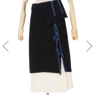 ルシェルブルー(LE CIEL BLEU)のireneルシェルブルーRESTIR新品スカート36野崎萌香着用(ひざ丈スカート)